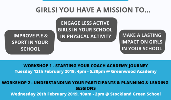 Girls Coach Academy – Apply NOW!